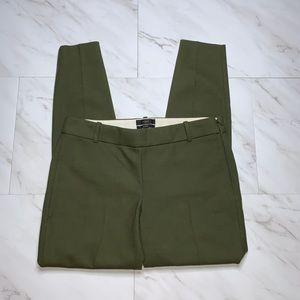 J Crew Minnie Hunter Green Pants